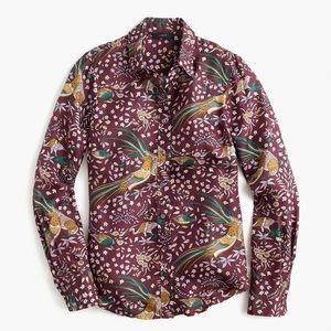 NWT Drake's for J.Crew Bird of Paradise Shirt